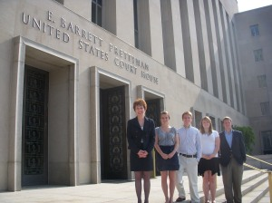 Class Photo in front of the U.S. District Court House